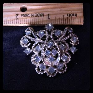 Jewelry - Vintage Unmarked Silver and Pale Blue Broach